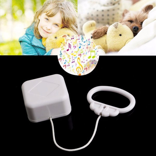 Wholesale- High Quality White Baby Bed Bell Pull String Cord Music Box Kids Toy Random Songs Baby Rattles & Mobiles