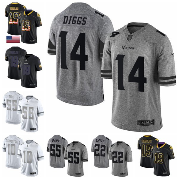 newest collection 4b74a acaf1 2019 Minnesota Limited Football Jersey Vikings Lights Out Black Rush Black  Rush USA Flag 8 Kirk Cousins 19 Adam Thielen 14 Stefon Diggs From ...