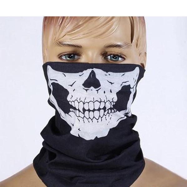 Multi-função rosto Fresco Crânio Máscaras de festa de Design cachecol Adultos Multi cor Esporte Motociclista Cachecol Metade Meia Máscara de Rosto Esporte máscaras de cabeça