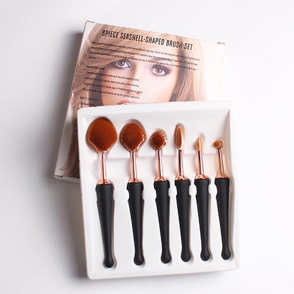6pcs Professional Makeup Brush Set Powder Foundation Eyeshadow Eyeliner Cosmetics Make Up Kits Beauty Essentials Makeup Brushes