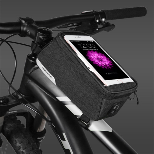 Roswheel Essentials 121460 Bicicleta Tubo Superior Quadro Dianteiro Bicicleta Celular Saco Do Telefone Móvel Caso Titular Pannier Bolsa para 5.7