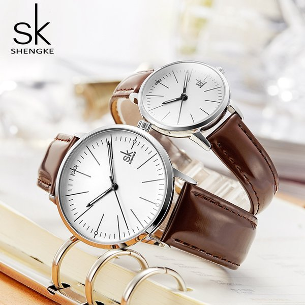 SK 2018 Business Couple Watch Top Brand Quartz Wristwatch for Men Woman Lovers Watches Clock Relogio Masculino reloj mujer Saat