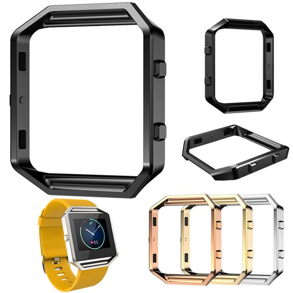 12 colors Metal Frame For Fitbit Blaze Watch Band frame Stainless Steel Housing Holder Shell smart watch sport Fitness Accessorie