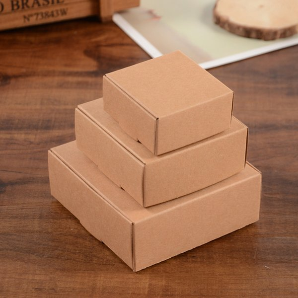 3 Size Kraft Paper Cardboard Package Box Gift Packaging Soap Jewlery Packing Box Candy Boxes