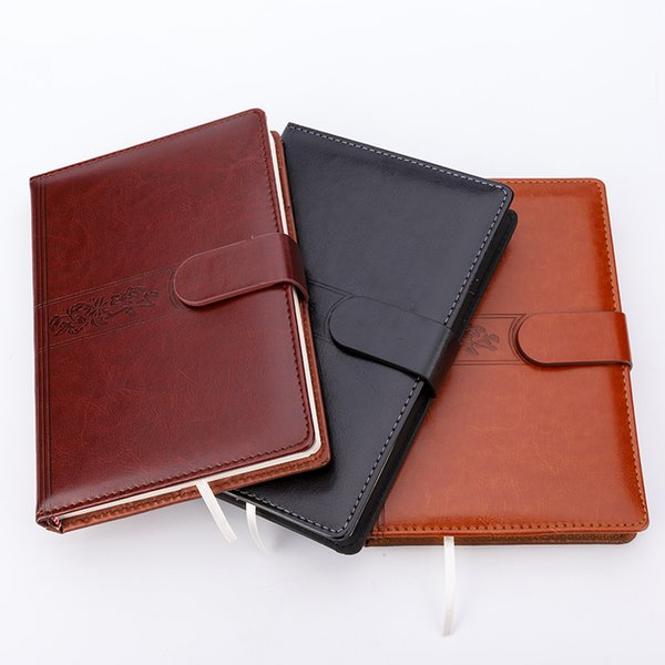 Notebook Stationery Commercial Notepad Faux Leather B5 A5 Thick Note Sheets Diary Book Kraft Paper Gift Free shipping