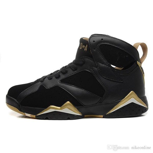 b5af1a7f2df4 Cheap Womens Jumpman 7 VII basketball shoes 7s olympic Gold Moments Black  youth kids boys girls aj7 air flights sneakers boots j7 for sale