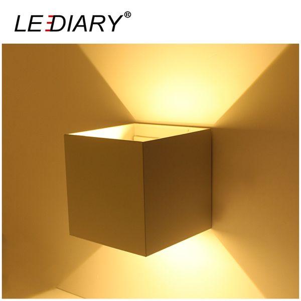 LEDIARY Étanche LED Applique Carrée 110-240V Angle de faisceau Réglable IP44 Porche Lumières Surface Monté Décoration Paysage