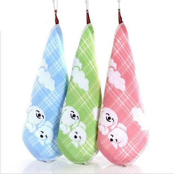 30cm*30cm Fashion Soft Baby Bath Cotton Towel Cute dog Cartoon Decorative Face Bathroom Wash Cloth Hand Towels M-WX0012