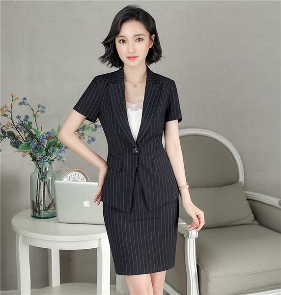 d8e8ab45a0 2018 Summer New Fashion Style Elegant Office Uniform Designs Women Womens  Business Suits Female Ladies Blazer