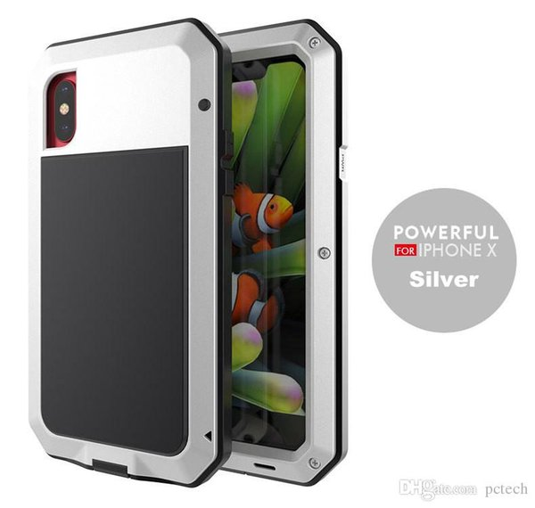 Armor Defender Metal Case waterproof dirtyproof 360 full body Cover for Iphone X 7/8 Plus I6 I5 I4 Samsung S8 Plus Note 8 S6 S7 Edge