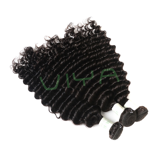 9A grade raw indian deep wave hair bnundles with lace closure 100% unprocessed virgin hair can be dyed and bleached