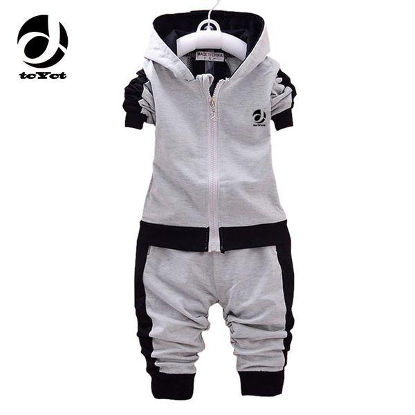 1-3years bebê meninas meninos conjunto de roupas meninas set outono inverno agasalho para meninos casaco com capuz + calça 2 pcs menino menina esporte terno y1893004