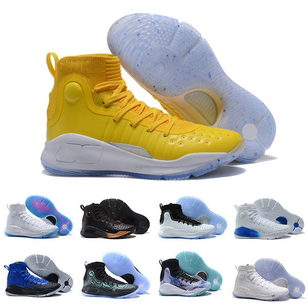 Stephen Curry 4 men basketball shoes Gold Championship MVP Finals Sports  Sneakers trainers outdoor designer shoes Size 5.5-11 85656e1b6d9a
