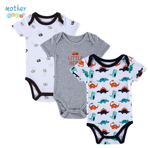 3e9657959617 2019 BABY BODYSUITS 100%Cotton Infant Body Short Sleeve ...