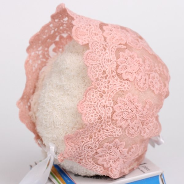 Girl Children Lace Bonnet with Plum hat Style Lace Baby Photography prop The Baby Gift