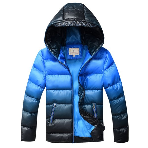 Kids Winter Jacket for Boys Down Jackets Coats Warm Thick Cotton Wadded Jacket Gradient Color Big Boys Parka Jacket DQ168 Y18102608