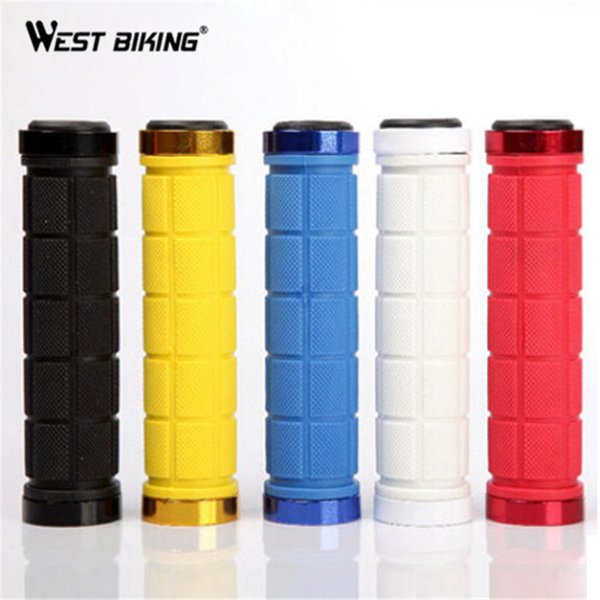 WEST BIKING 1 Pair Durable Non-slip Aluminum Alloy Rubber Lock-on Double MTB Bike Handlebar Bicicleta Bicycle Cycling Grips