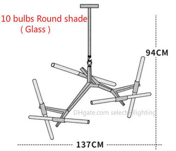 Lampadina rotonda in vetro da 10 lampadine