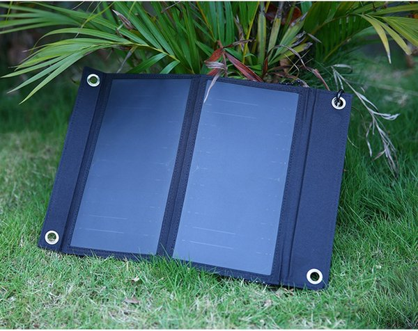 New 15W Dual USB Solar Energy Cell Phone Power Banks Portable Outdoor Waterproof Solar Charging Foldable Cover Bags 3rd SunPower
