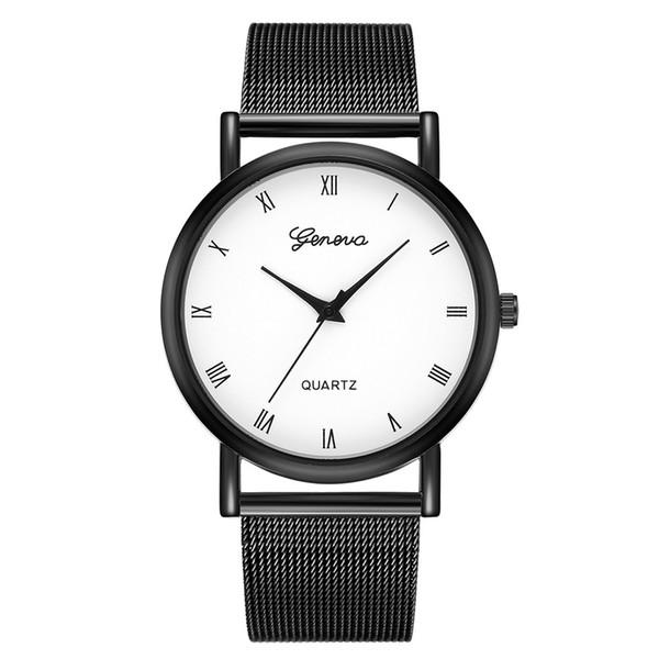 2018 New Ladies Luxury Women Thin Stainless Steel Band Analog Quartz WristWatch Watches Wristwatches Clock Relogio Drop Shipping