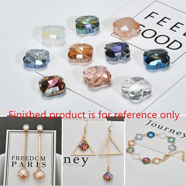 Novo estilo 50 pçs / lote cor trevo forma moda diy jóias brinco / colar / pulseira pingentes acessório
