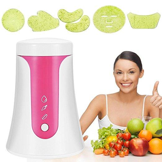 Face Mask Machine FM002 Operate Smart DIY Fruit Vegetable Facial Mask Maker With Collagen Effervescent Tablets for Eye Chest Hand Neck