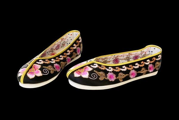 Женщины Скольжения На Случайные Плоские Эспадрильи Обувь - Ручной Работы Подошва Удобная Шелковая Парча #112