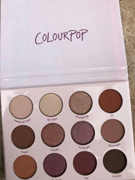 Colourpop Give it to me straight Eye shadow palette 12 colors waterproof long-lasting new in box DHL Free Eyes makeup