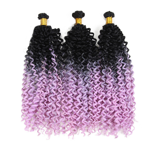 Synthetic Curly Hair Extensions Water Wave Hair Bulk 6pcs/Lot Bundles Crochet Freetress Twist Weave Synthetic Hair For Black Woman