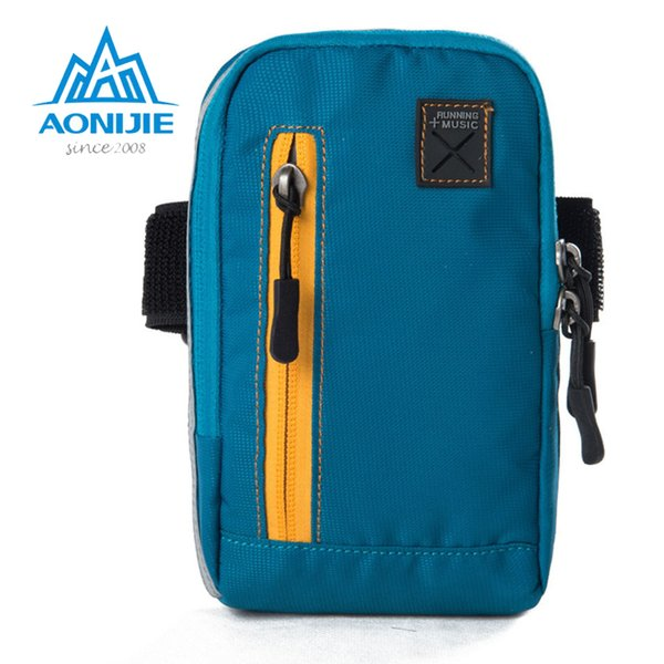 AONIJIE Arm Bags For Outdoor Running Coins Purse Sports Phone Mobile Wallet Key Package With Arm Shoulder Strap