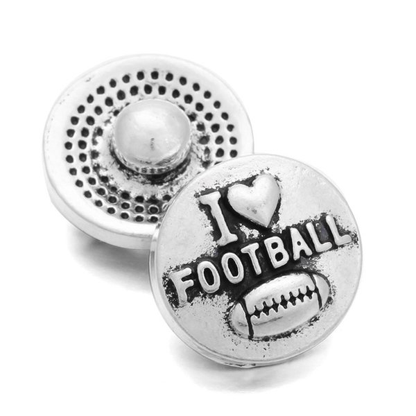 Hot selling snap buttons jewelry Football shapes Metal Style 12MM mini style snap Fit 12mm Snap jewelry ZL028