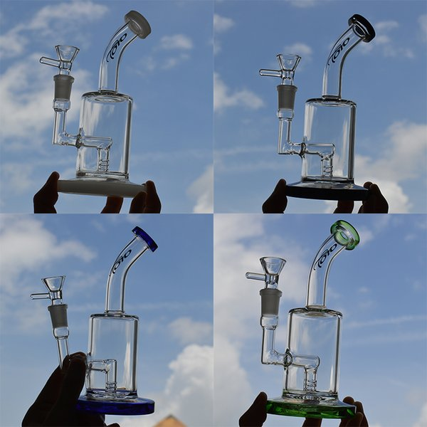 Toro Glass Bong Water Pipe Oil Dab Rig Fixed Diffuse Perc Bubbler Heady Smoking Glass Pipe 7.5 inches Ashcatcher Hookah 14mm Joint