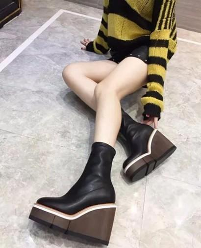 2018 women hight heel tall boots newest classic designer Best Limited top layer cowhide fashion tall shorts