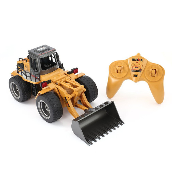 HUINA 6CH RC Metal Bulldozer 1:18 2.4GHz RTR Front Loader Engineering Toy Remote Control Construction Tractork Vehicle 7 Days Delivered