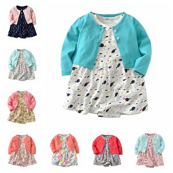 15 New Styles Infant Clothes Children's Dresses Girls Christmas Romper Long-sleeved Christmas Dress Hair Band Sets