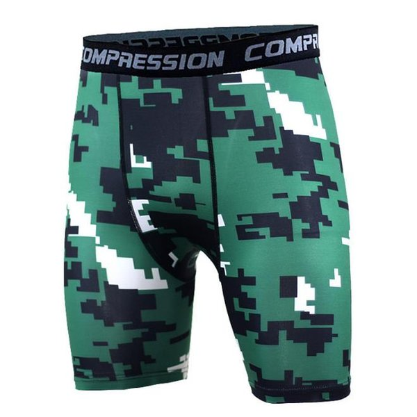 Free Shipping Mens Compression crossfit 2018 NEW Summer Camouflage Shorts Fitness Bodybuilding Shorts Tights Camo Shorts men