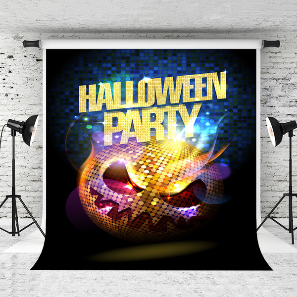 Dream 5x7ft Halloween Theme Backdrops Glitter Skull Carnival Background for Happy Halloween Party Photo Prop Studio