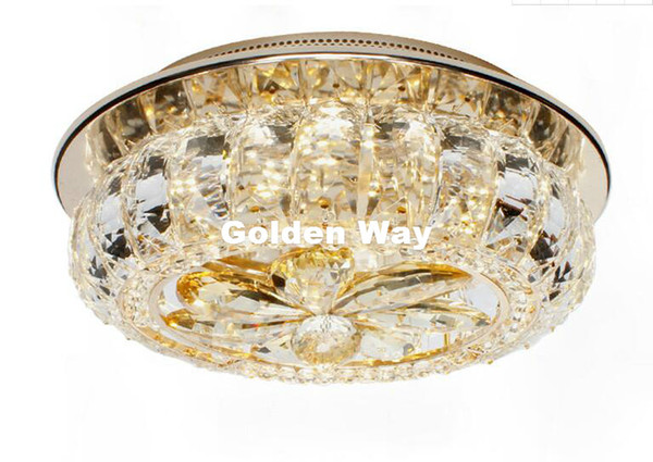 Free Shipping Celling Lamps Champagne Colors LED Crystal Ceiling Lamp D25cm Modern Design Rhinestone Lighting Home Decoration Lamps