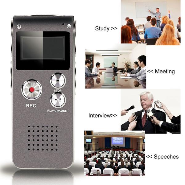 SK-012 4GB 8GB Mini USB Flash Grabadora de Voz de Audio Digital 650Hr Dictáfono Sonido Reproductor de MP3 8 Gb Gray Pen Drive Grabadora Gravador de voz