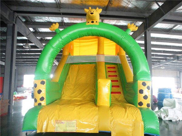 2018 cute giraffe Factory customized PVC inflatable slide inflatable playground equipment for sale