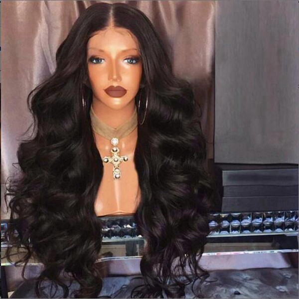180 Density Full Lace Wig With Baby Hair Body Wave Full Lace Human Hair Wigs For Black Women Malaysian Lace Front Wigs