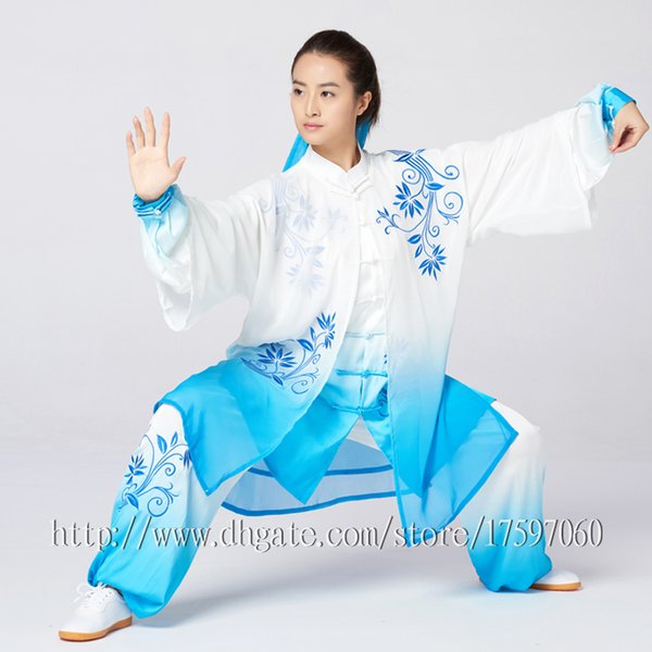 61fd738ab Chinese Tai chi clothing Kungfu uniform Taiji competition suit Routine  outfit embroidery garment for women men