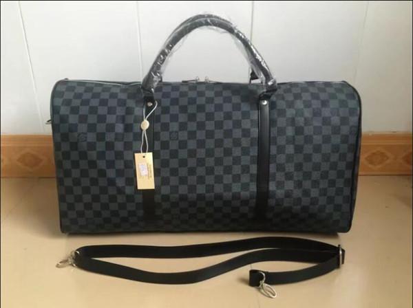 Yeni 55 cm sıcak satış marka erkek ve kadın seyahat çantası PU deri bagaj çantası marka tasarımcı bagaj büyük kapasiteli spor çanta sırt çantası tarzı