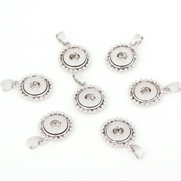5pcs 12mm Slide hang Snap Button Pendant for interchangeable snaps for Petite Size Snap necklaces, rings,Jewerly & bracelet