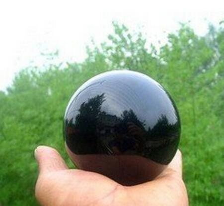 Natural Black Ob sidian Sphere Large Crystal Ball Healing Stone
