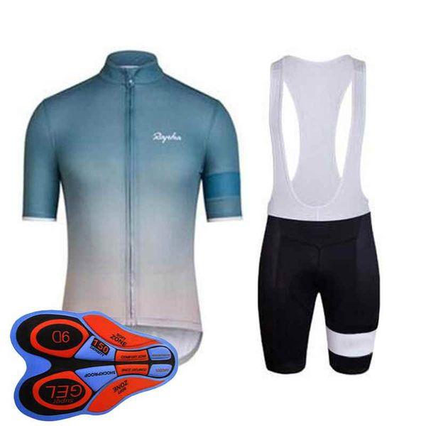 Rapha team Cycling Short Sleeves jersey (bib) shorts sets new arrivals Summer men's mountain bike sports Racing clothing 92809J