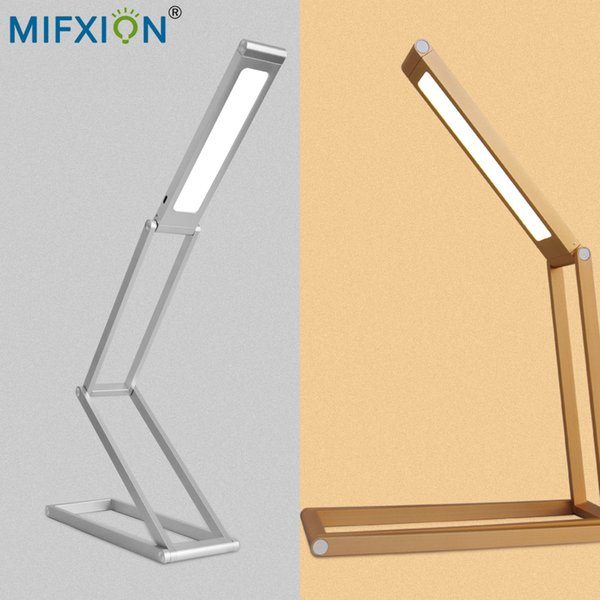 Modern Desk Lamp LED Office Work Lamp Bedside Study Reading Lighting Foldable Table Chargeable Desk Portable Folding