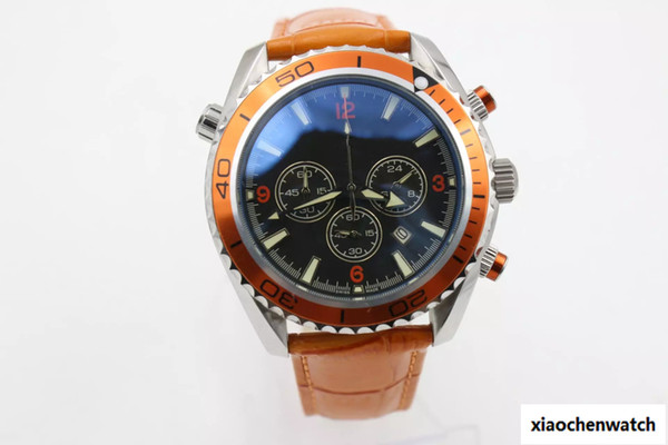 Top seller High quality christmas gift men watch automatic movement leather strap Quartz CO-AXIAL man planet ocean men's watches