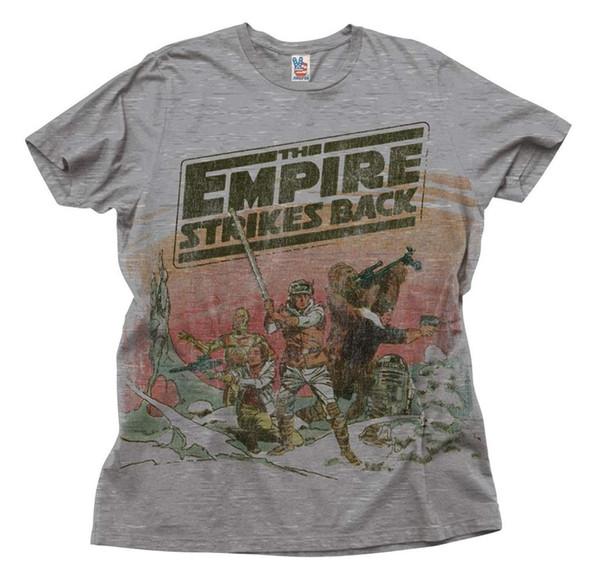 Tomada de fábrica O Império Contra-Ataca Heather Taupe Adulto T-Shirt de Boa Qualidade Da Marca de Camisa de Algodão Estilo Verão Fresco Camisas