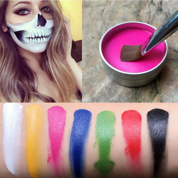 Face Paint Halloween Makeup Flash Tattoo Face Body Paint Oil Painting Art Fancy Dress Beauty Makeup 7 Colors M2